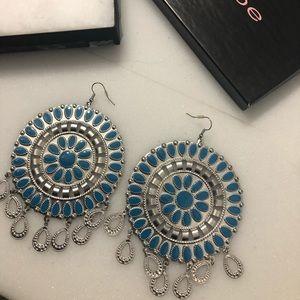 Bebe blue with sparkle diamond earrings